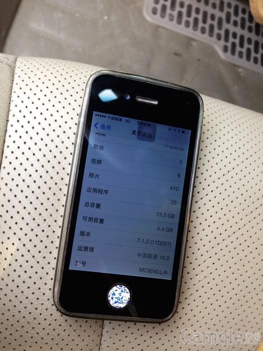 升级苹果6一颗苹果4S 黑色美版 712系统 价格
